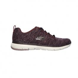 Zapatillas Skechers Flex Appeal 3.0 13077 - Burgundy Knit Mesh / Off