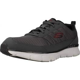 Zapatillas Skechers Synergy 3.0 52584 - Charcoal Leather/mesh/pu/