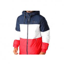 Abrigo Fila Men Lassad Puffed Jacket 683198 - Black Iris-True Red-Brigh