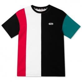 Camiseta Fila Men Bansi Blocked Tee 687960 - Black-Teal Green-Bright W