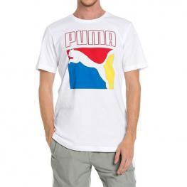 Camiseta Puma Box Logo Tee 578157 - Puma White