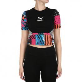 Camiseta Puma Clash Top 579586 - Cotton Black-Aop