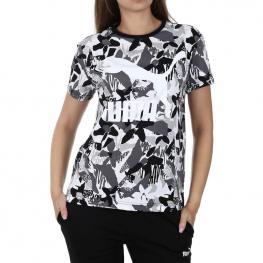 Camiseta Puma Logo Tee Aop 578202 - Cotton Black