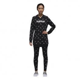 Sudadera Adidas W Aop Dw8020 - Black/white
