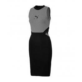 Vestido Puma Clash Dress 579588 - Cotton Black-Strip