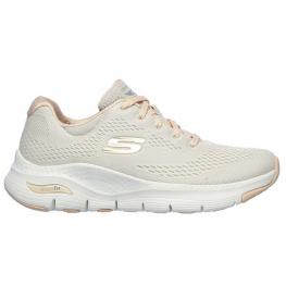 Zapatillas Skechers Arch Fit 149057 - Natural Knit Mesh / Coral